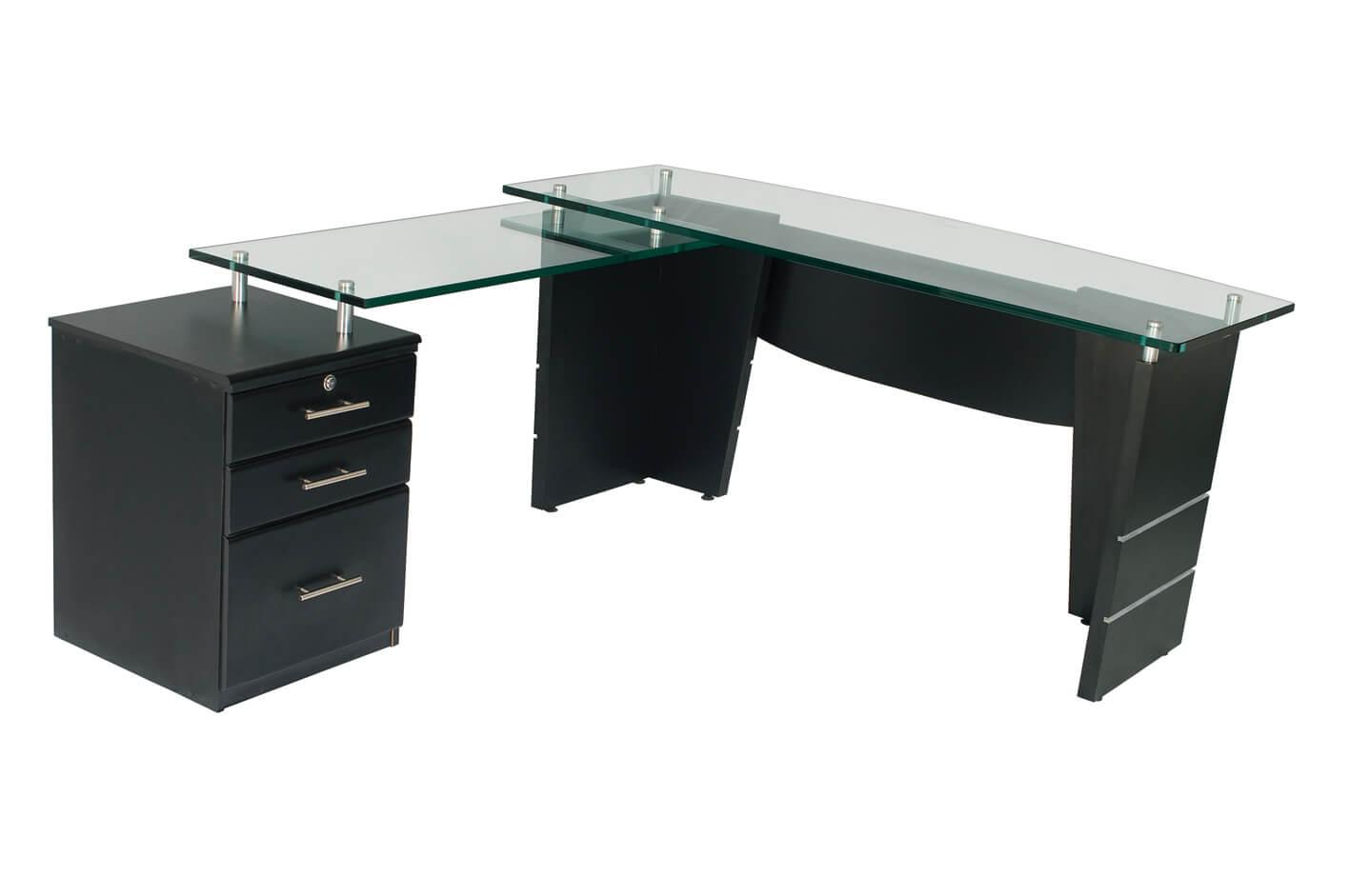 Escritorio vidrio offi dise os for Muebles de oficina vidrio